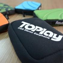 TOPlay聽不累 潛水布收納包-耳機 收納 零錢包-[AC02-01]
